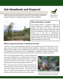 KBO 2017 Oak woodlands and chaparral DST v3.1 cover page 72ppi 2.8x3.6