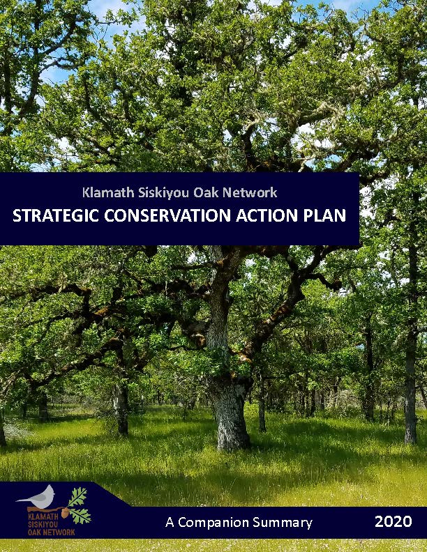 KSON 2020 Klamath Siskiyou Oak Network Strategic Action Plan Summary 10 Page 1